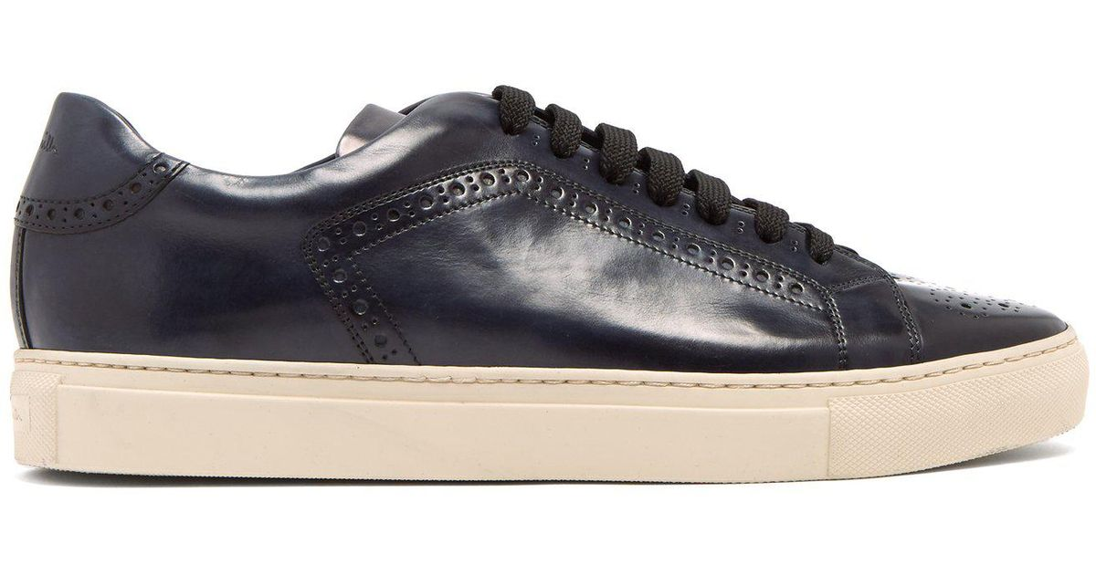 hot sales ac370 70368 paul-smith-navy-Wooster-Leather-Trainers.jpeg