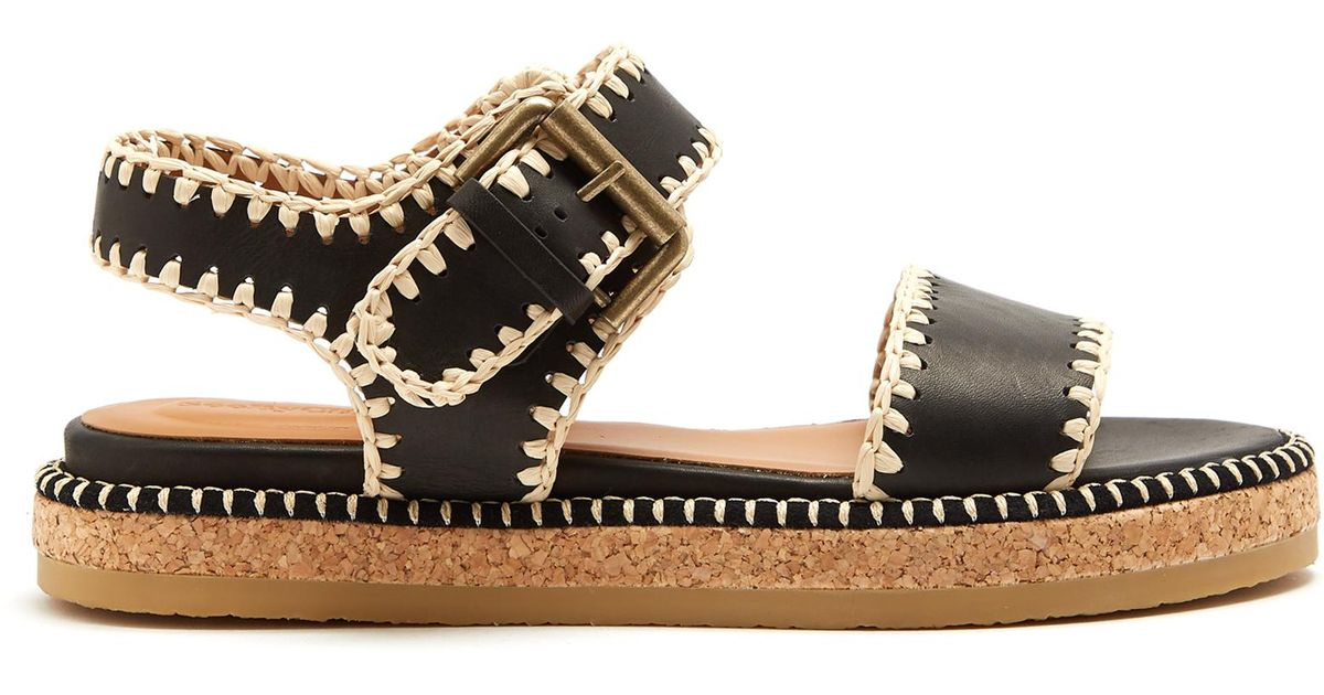 Embellished leather sandals See By Chlo 4ycm1zkz76