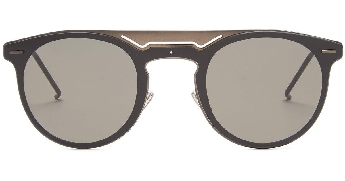 cc132f4ec29 Lyst - Dior Homme Dior0211s Round-frame Sunglasses in Black for Men