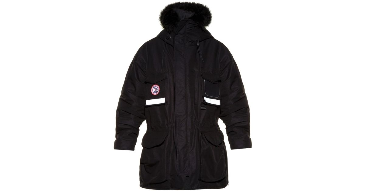 Vetements Oversized Hooded Parka in Black for Men | Lyst