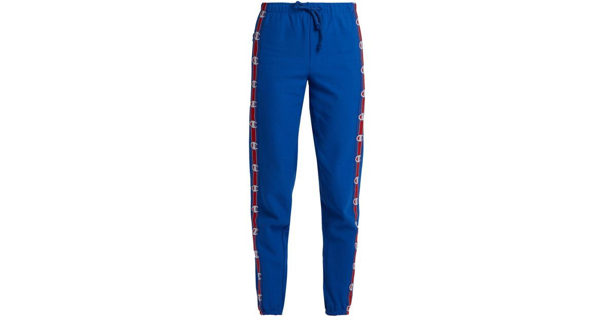 7996dbea03cd Lyst - Vetements X Champion Cotton-blend Track Pants in Blue