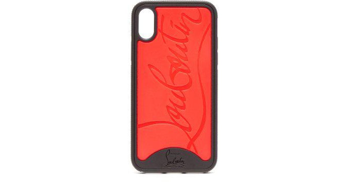 8804932929f Christian Louboutin Red And Black Iphone Case 8+ for men