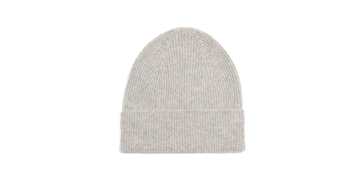 1ec77202ece7a Isabel Marant Chilton Ribbed-knit Cashmere Beanie Hat in Gray - Lyst