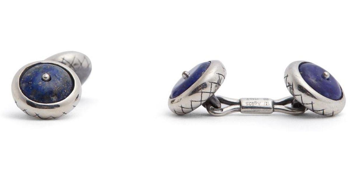Bottega Veneta Garnet and sterling-silver cufflinks S1nogIn