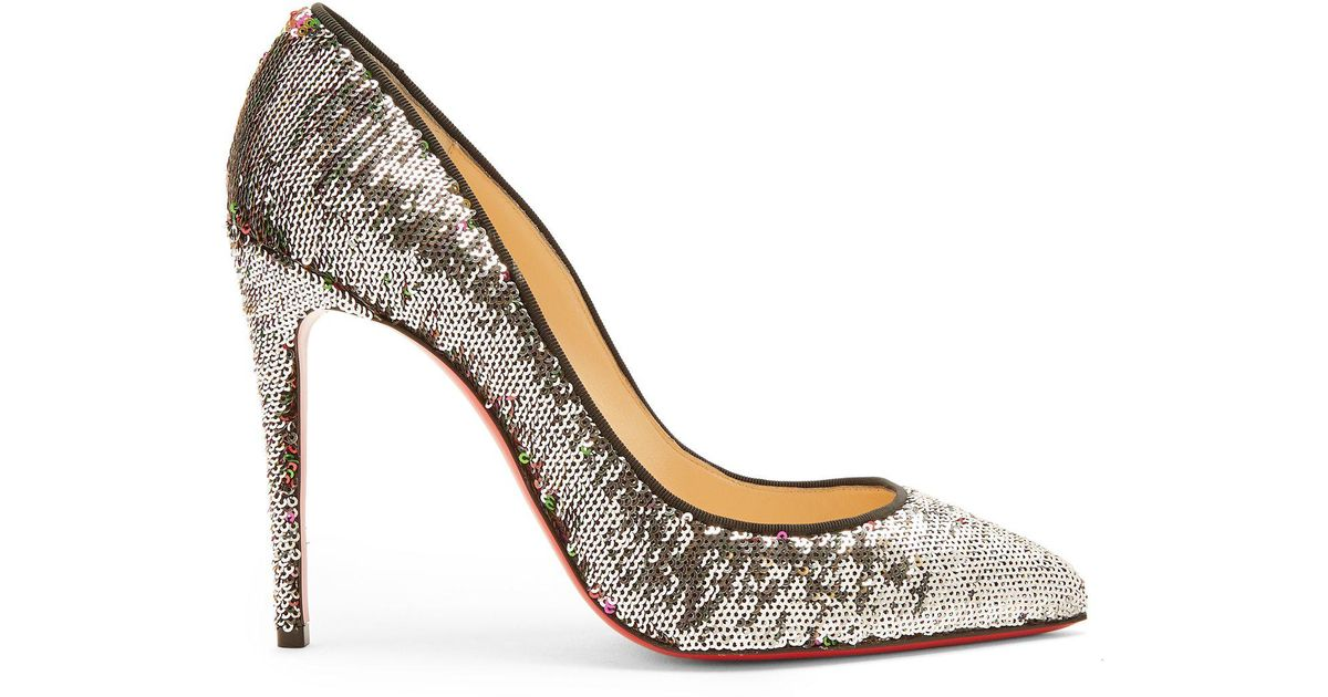 591a2777a90 Christian Louboutin Multicolor Pigalle Follies 100mm Sequin-embellished  Pumps