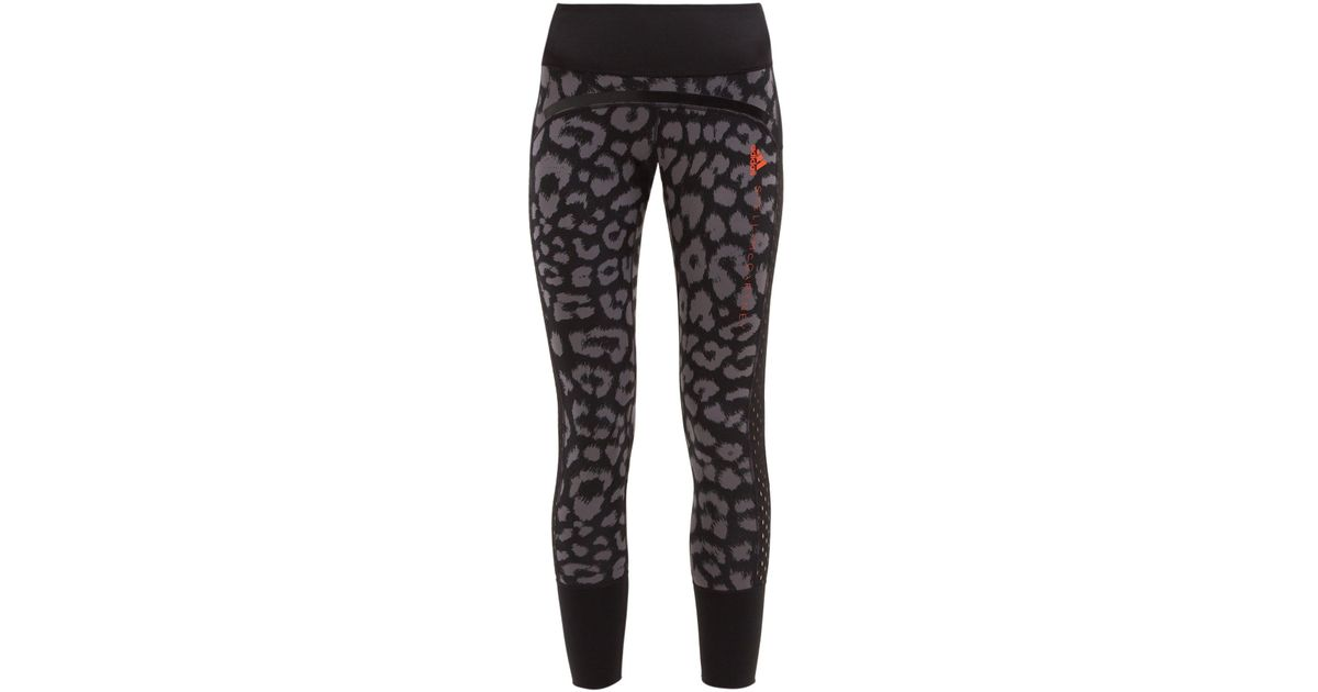 6a77a507108b7 adidas By Stella McCartney Believe This Comfort Leopard Print Leggings in  Black - Lyst