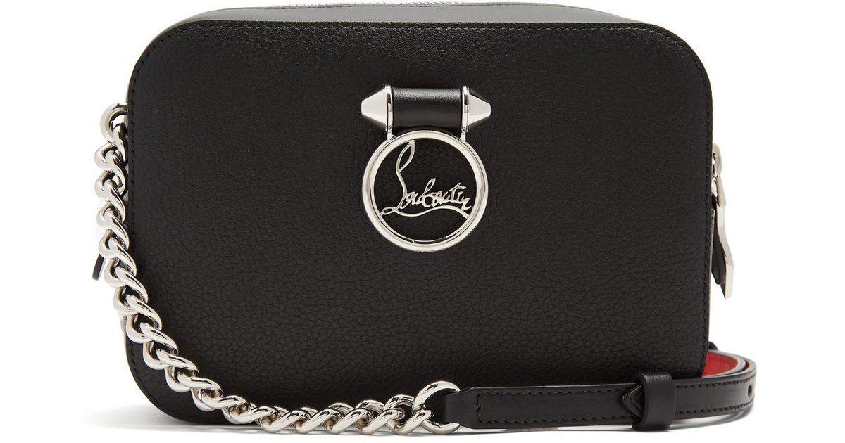 3d0a5f249b8 Christian Louboutin Black Ruby Lou Leather Cross-body Bag