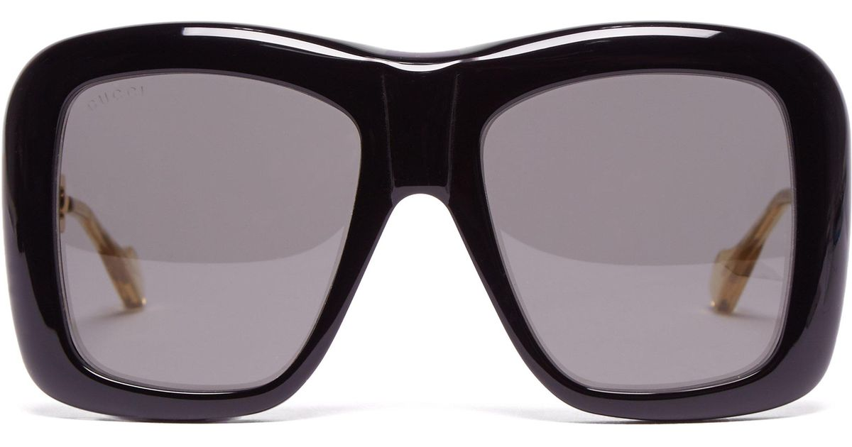 45315268e0 Gucci Oversized Square Frame Acetate Sunglasses in Black - Lyst