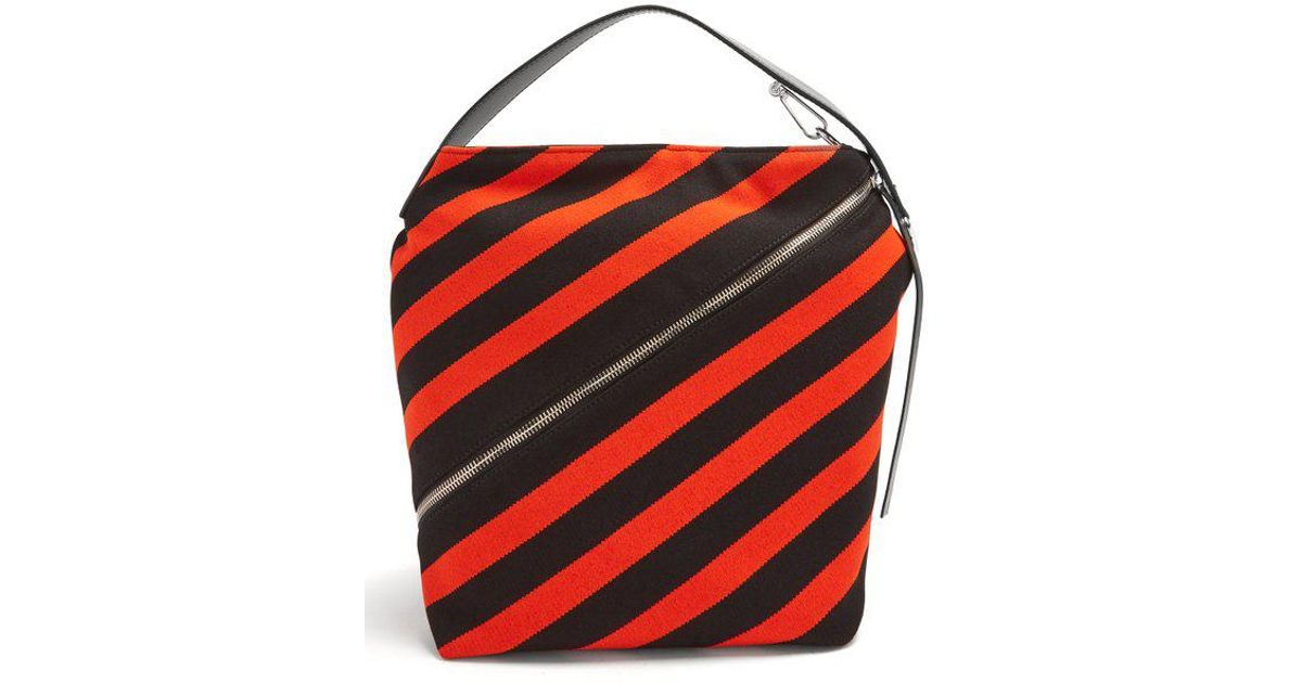 Hobo medium striped-knit bag Proenza Schouler 5AZq5251Z