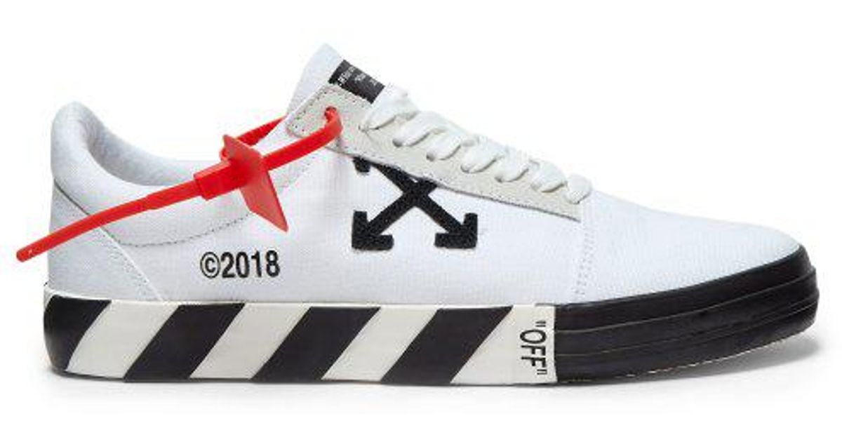 2624d7213b03 Lyst - Off-White c o Virgil Abloh Vulc Low-top Canvas Trainers in White for  Men