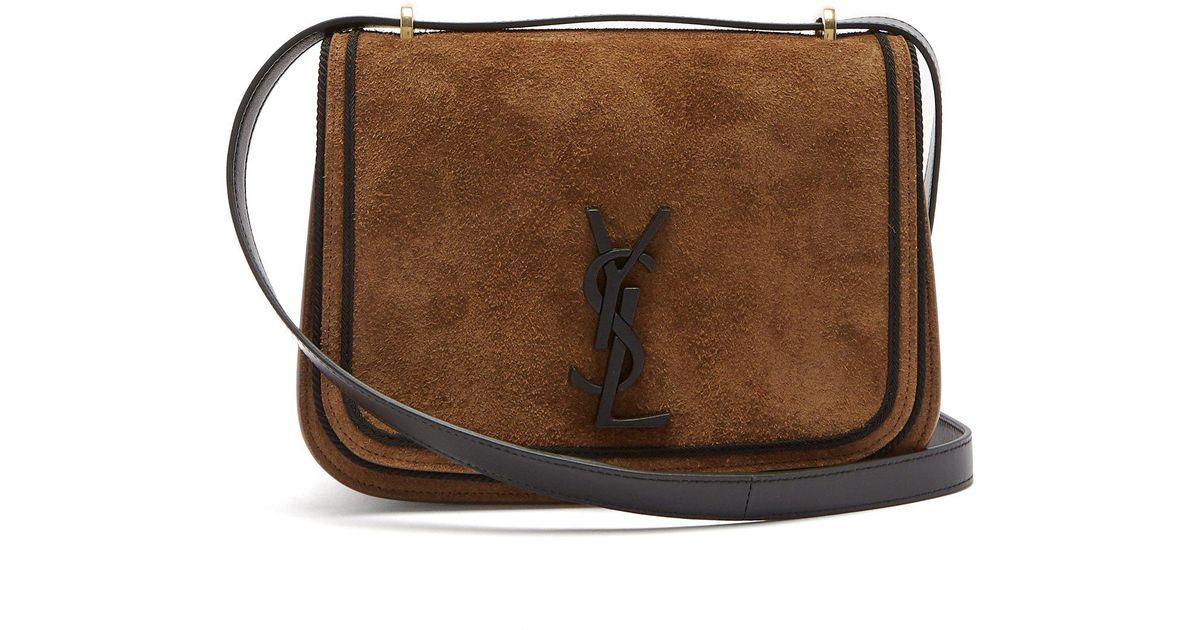 3ccd8f02f8 Lyst - Saint Laurent Spontini Suede Satchel Cross-body Bag