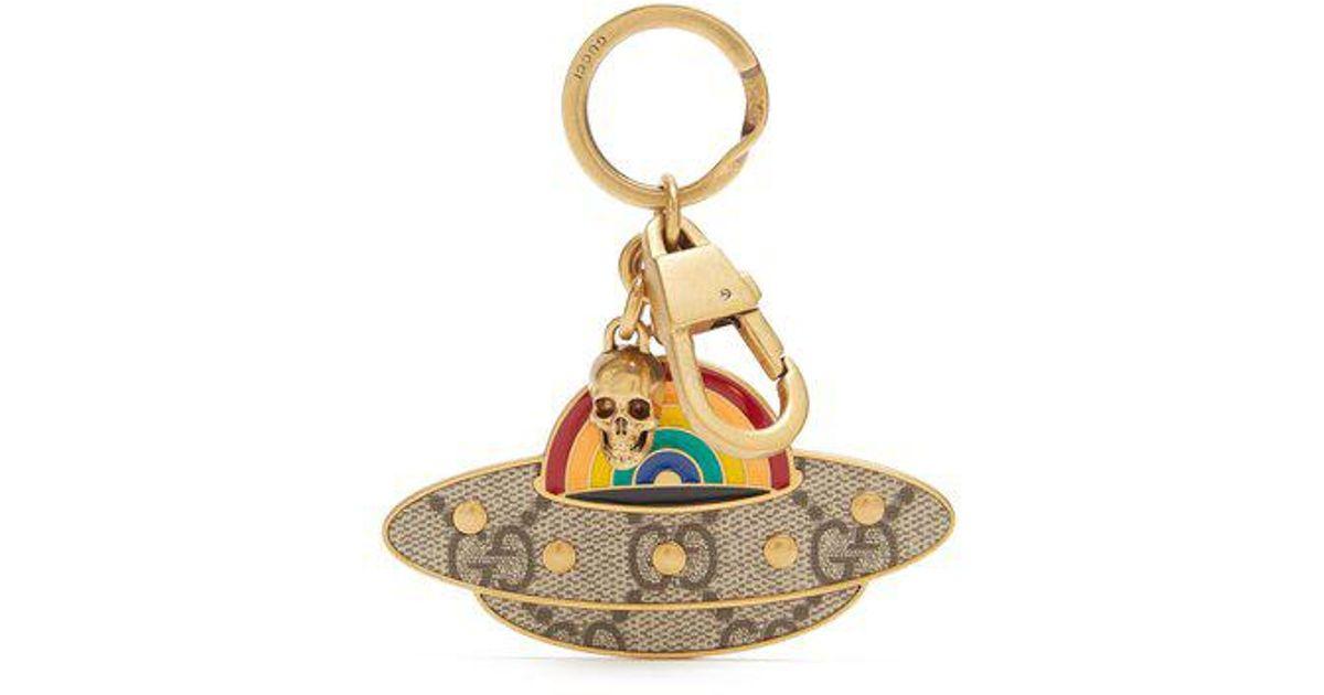 570cf4e76d7 Lyst - Gucci Ufo Key Ring in Metallic