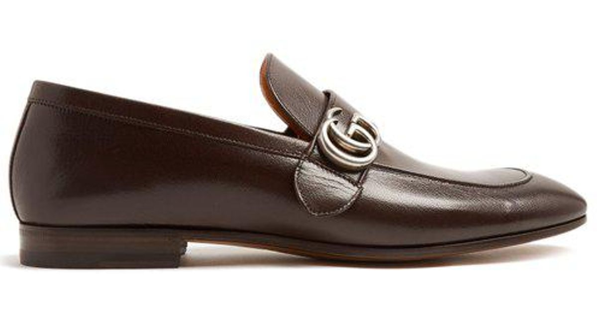 55e91cd7717 Gucci Donnie Gg Leather Loafers in Brown for Men - Lyst