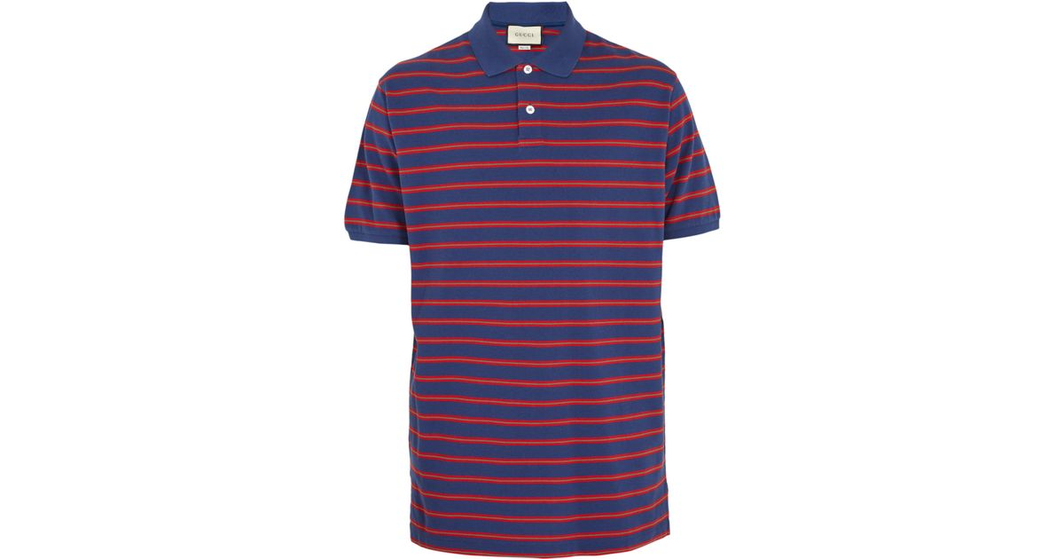 a901d2b26a6e Gucci Stonewashed Stripe Polo Shirt in Blue for Men - Save  20.168067226890756% - Lyst