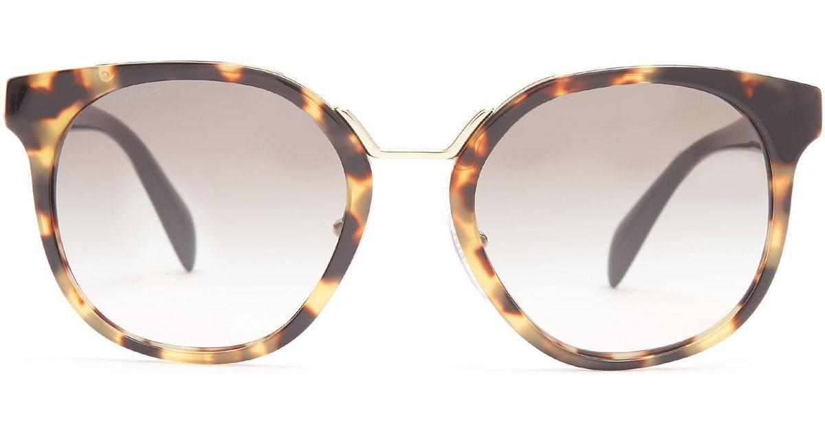 f3902aebfa5f ... australia lyst prada round frame floral embellished acetate sunglasses  bf73a 52fba
