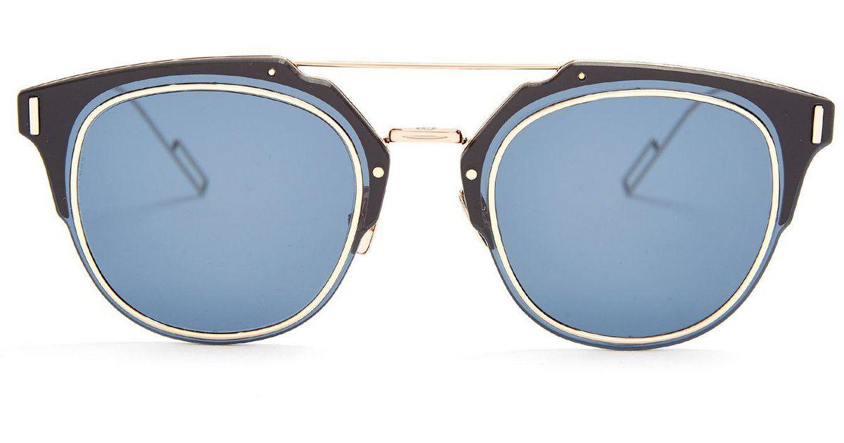 Lyst - Lunettes de soleil à monture pantos Composit 1.0 Dior Homme pour  homme 02d814bd26fe