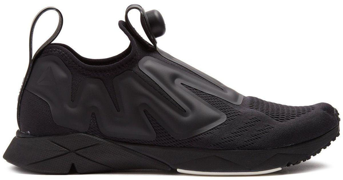 Lyst - Reebok Pump Supreme Low-top Mesh Trainers in Black for Men b61beb4594