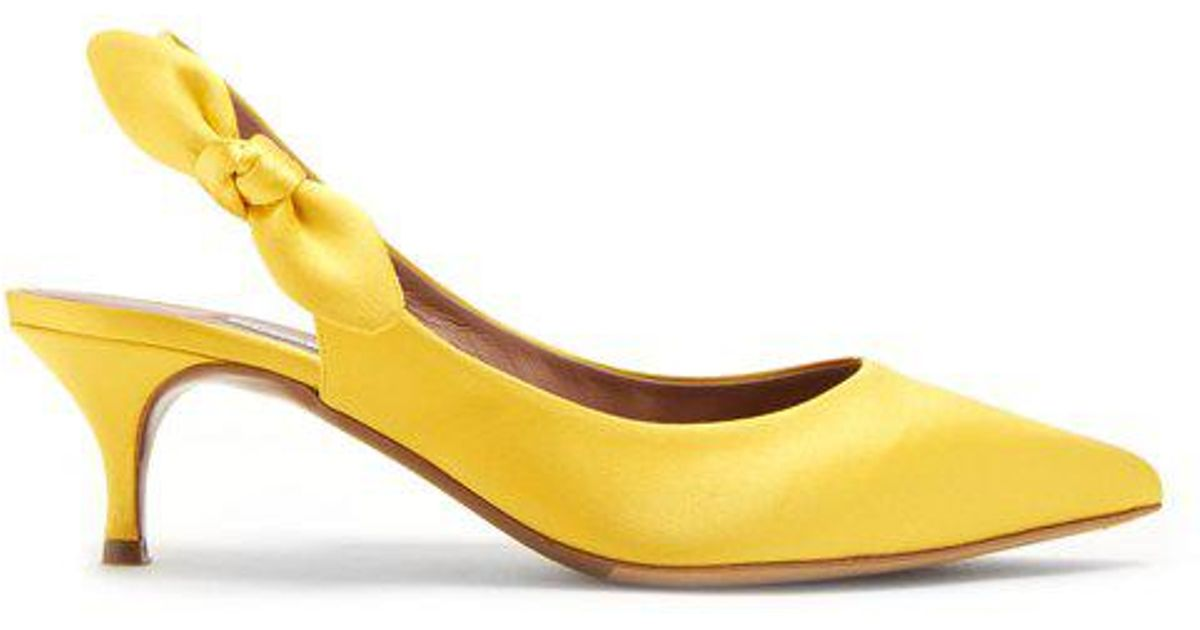 fb0eacfe7 Tabitha Simmons Rise Leather Slingback Pumps in Yellow - Save 72% - Lyst