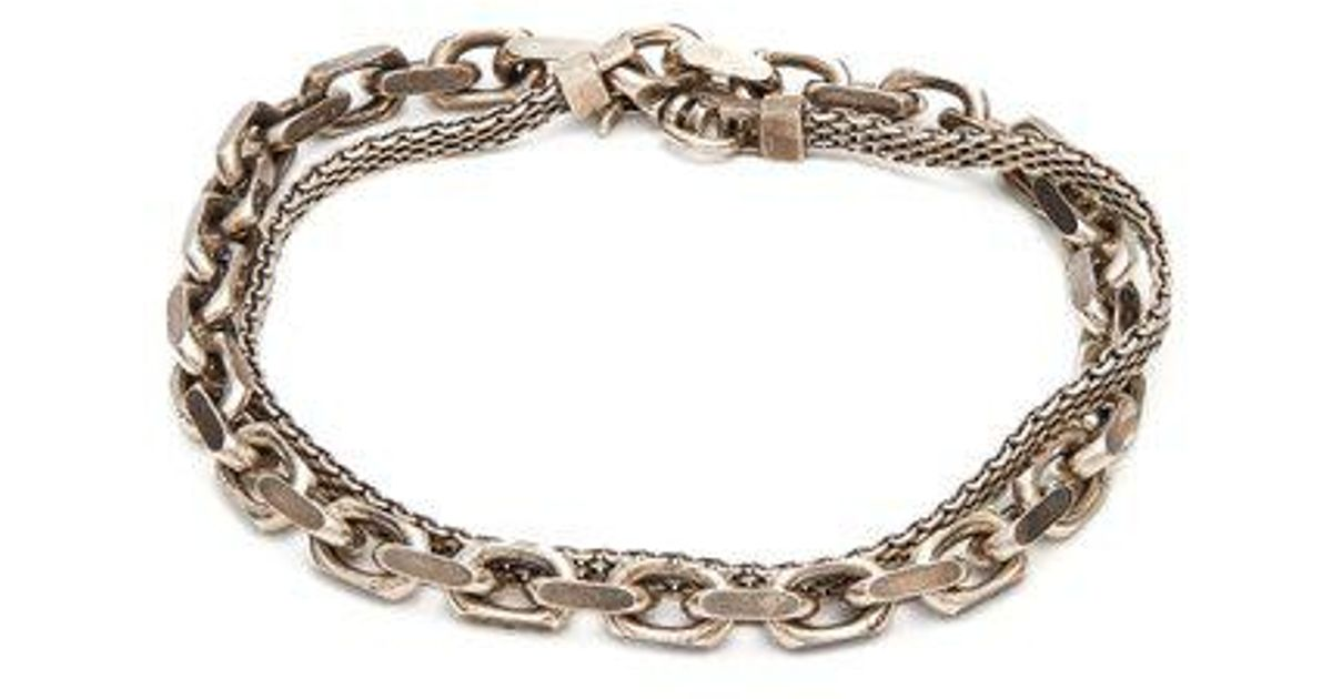 Title Of Work Marco-mesh and flat-cable sterling-silver bracelet NUiGyT6GU