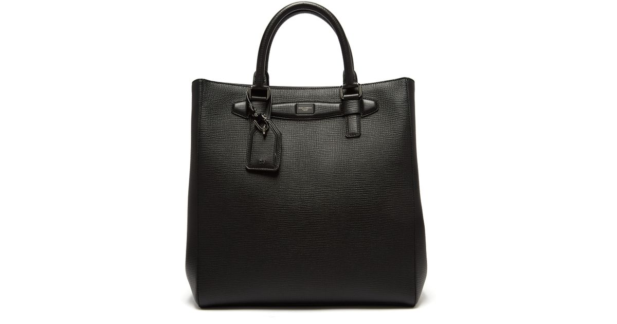 Dolce   Gabbana Large Leather Tote Bag in Black for Men - Lyst 56e29ab5ff3eb