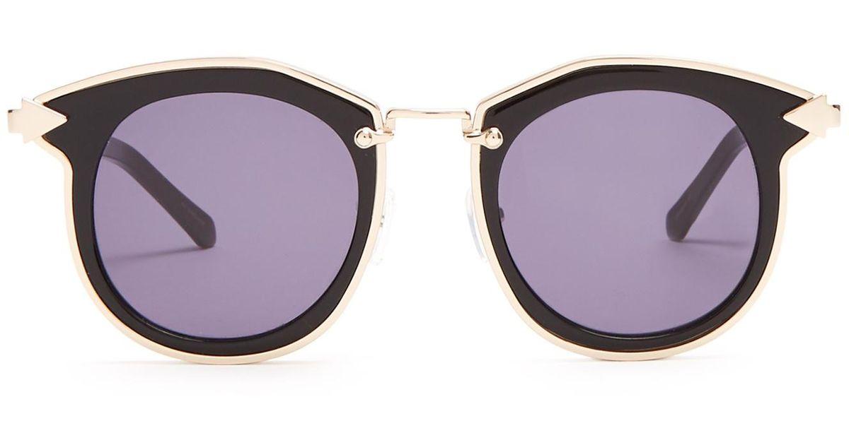 e020bf1f599 Lyst - Karen Walker Bounty Round-frame Sunglasses in Black