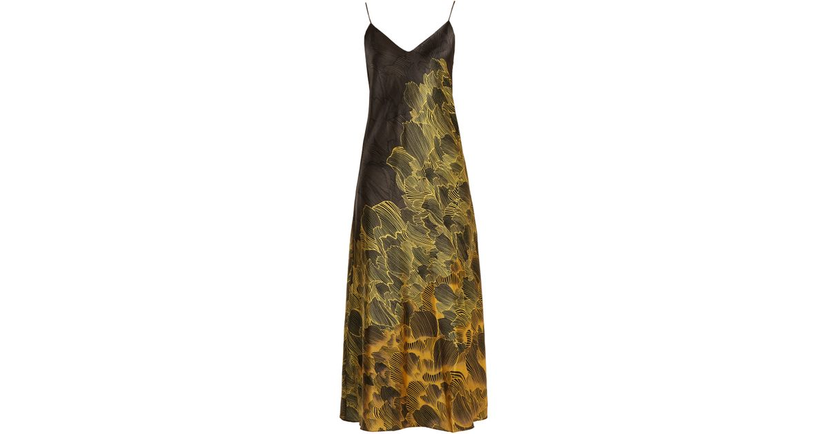 Iglesias Vestido seda floral elástica de estampado Adriana con creek HH6r8qZw