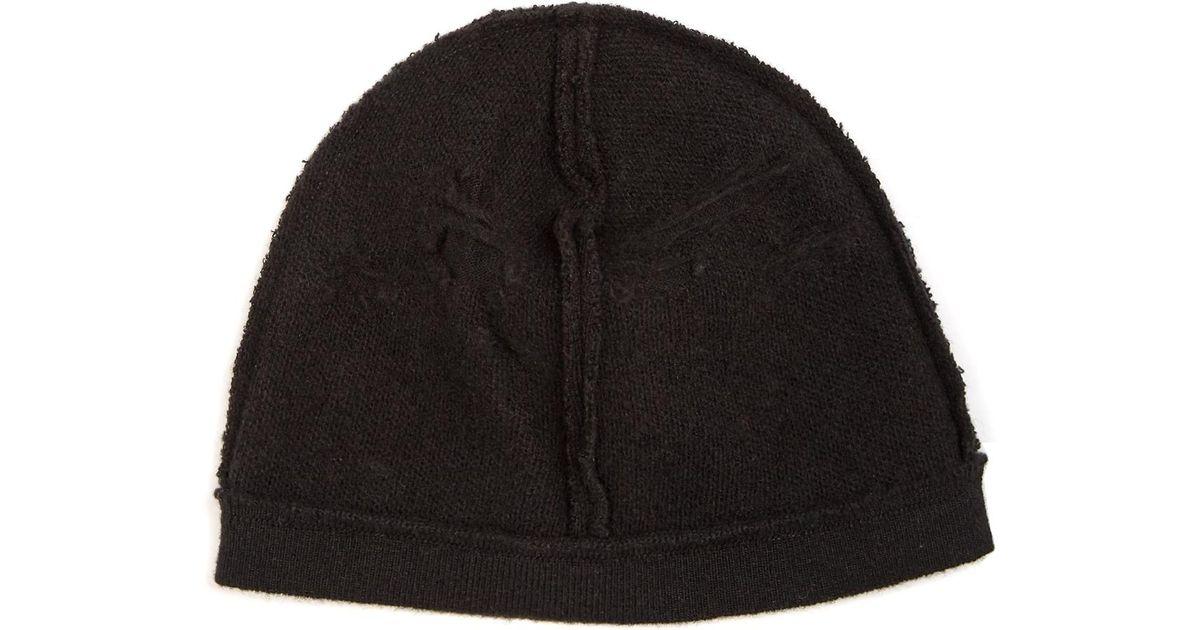 Balenciaga Destroyed Beanie Hat in Black for Men - Lyst ff213efc16ad