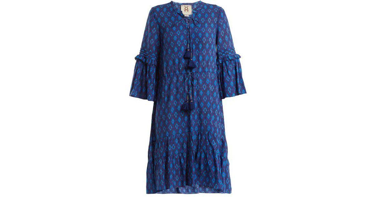 Poet ruffle-trimmed cotton-blend dress Figue EK8XD
