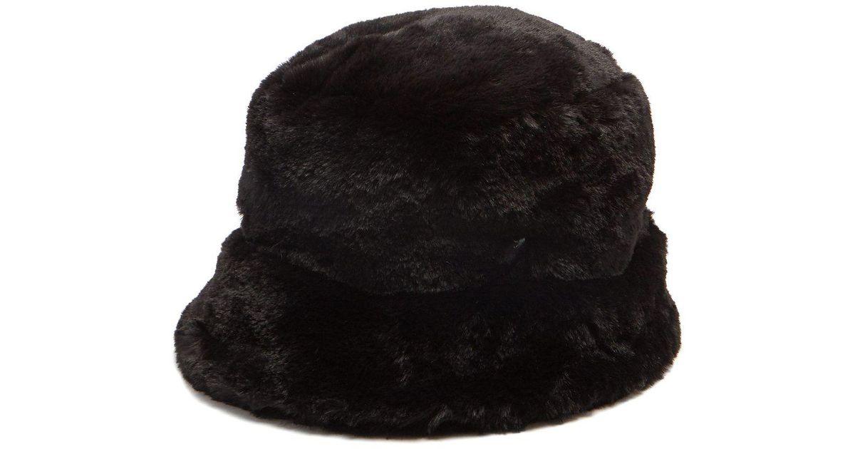 5857b23df6c Lyst - Filù Hats Madison Eco Faux-fur Bucket Hat in Black