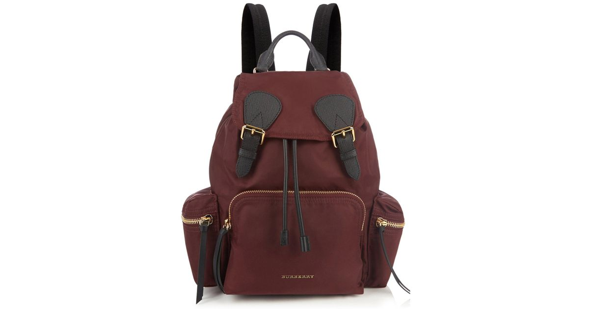 d66ffc2ecfba Lyst - Burberry Medium Nylon And Leather Backpack
