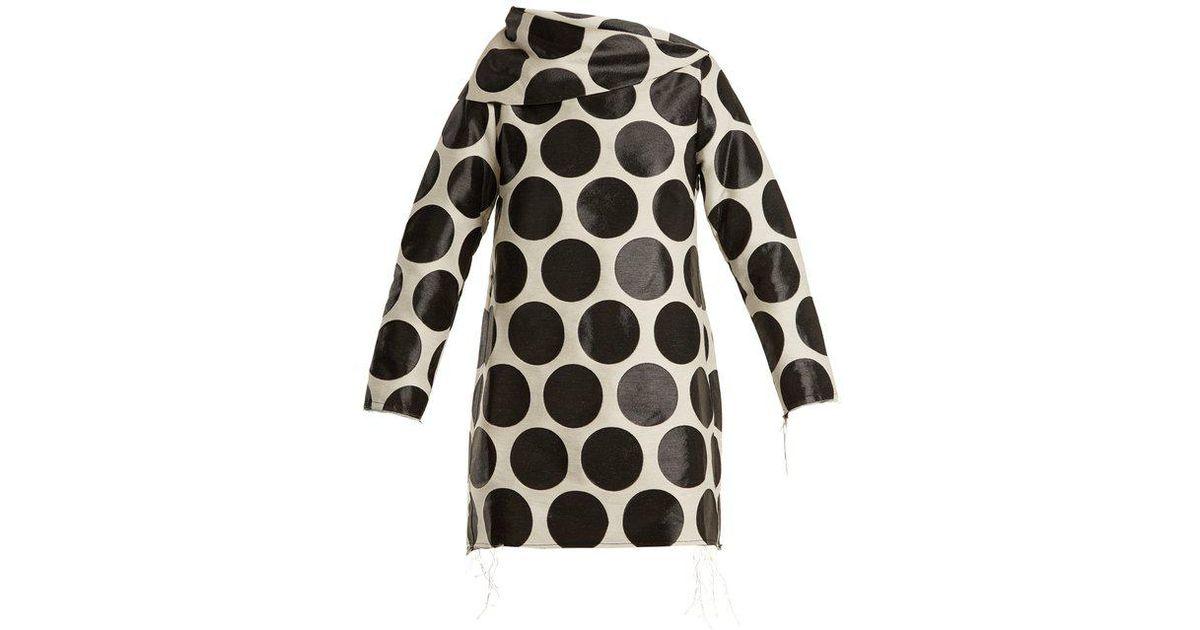 Circle-jacquard asymmetric-neck dress Marques Almeida ZtI2Pj