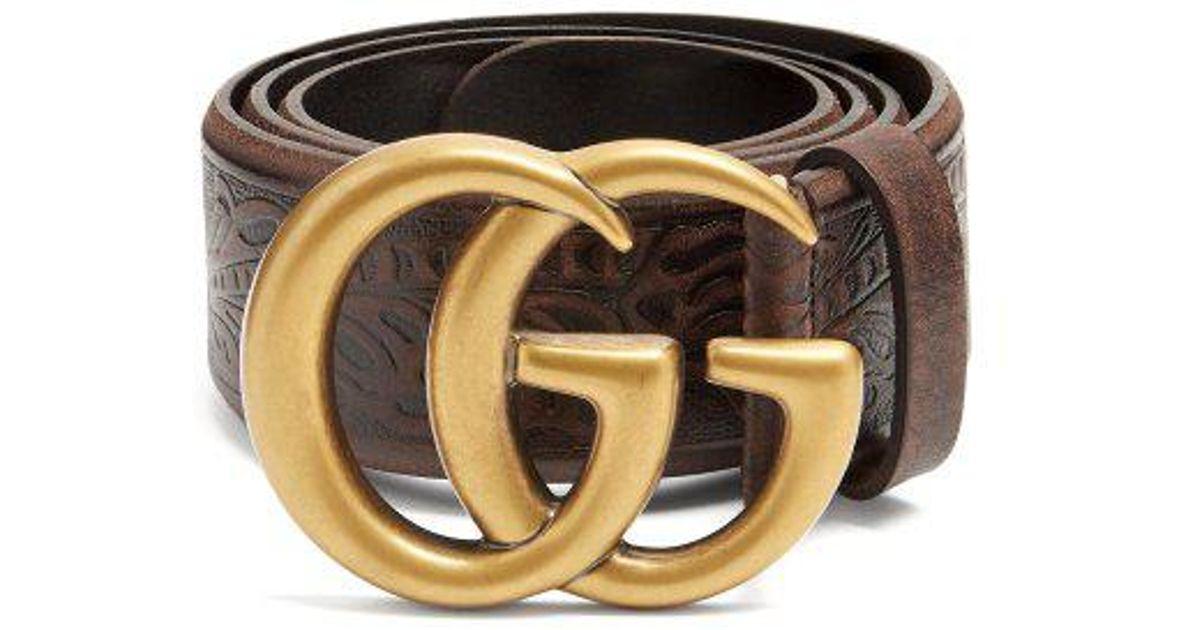 GG Vintage 4cm leather belt Gucci wPVHv3Q1S