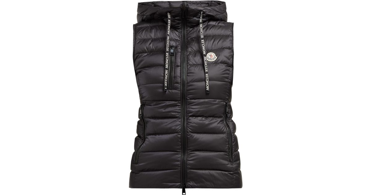 f573846c8 Moncler Black Sucrette Hooded Quilted Down Gilet