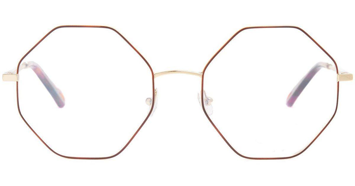 575248da02 Lyst - Chloé Poppy Hexagon Frame Glasses
