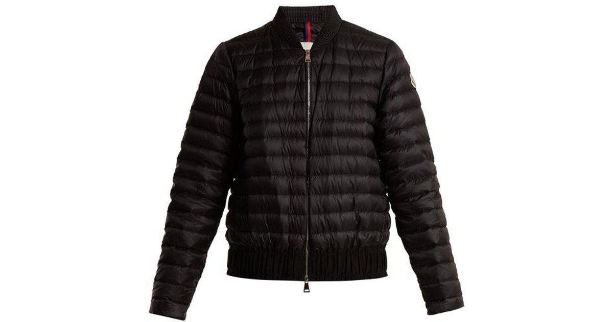 3b56101f8 Moncler Black Barytine Quilted Down Bomber Jacket