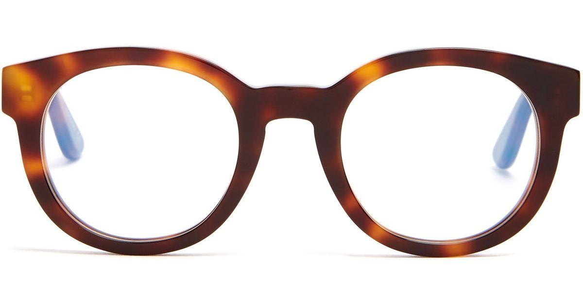 Monogram round-frame acetate sunglasses Saint Laurent IQ5GySs2a