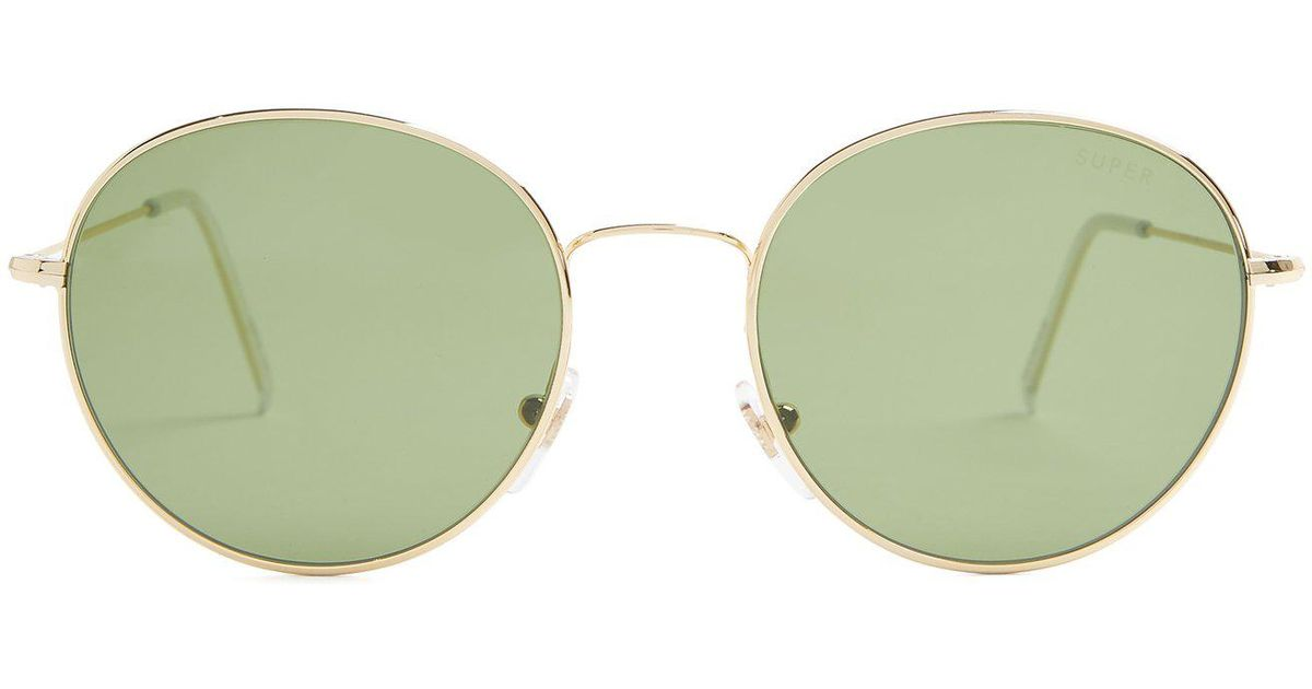 afb00e1fa0abbd Lyst - Retrosuperfuture Wire Round Frame Metal Sunglasses in Green