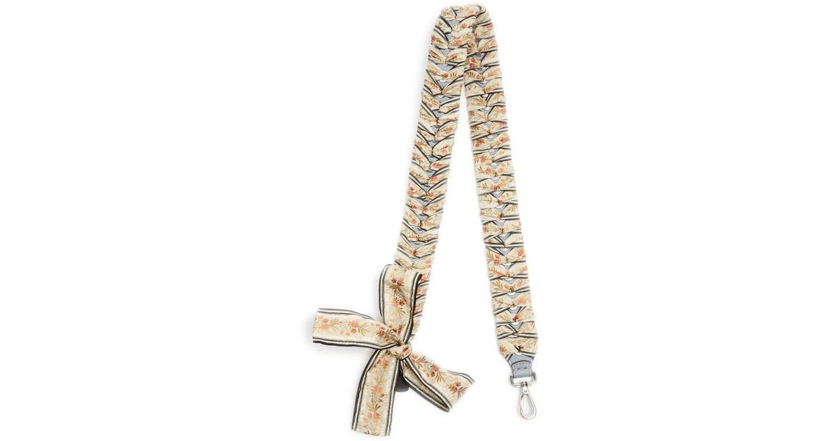 9f34c20c5654 Lyst - Fendi Strap You Ribbon-whipstitched Leather Bag Strap in Natural
