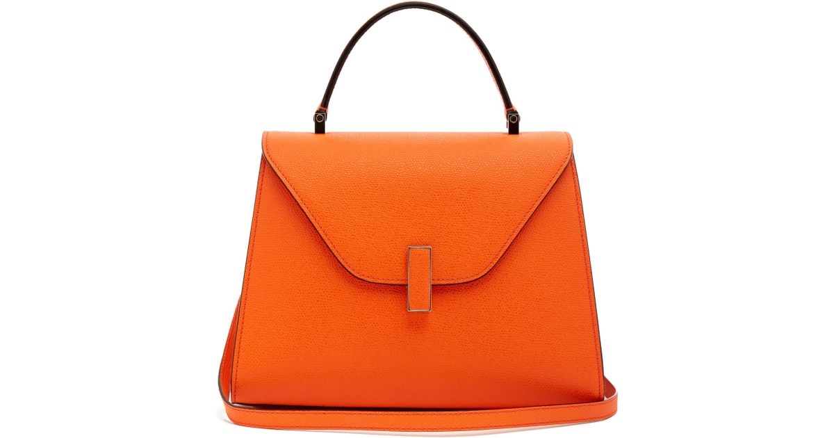499da1df36ba58 Valextra - Orange Sac en cuir grainé Iside medium - Lyst