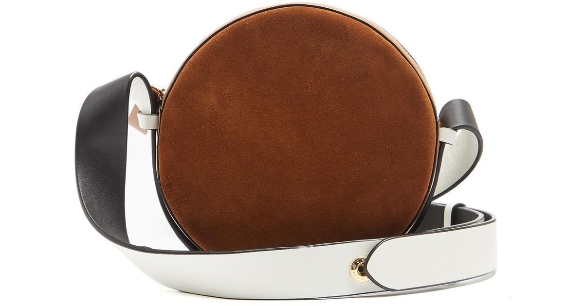 6aa0bc54445b2 Diane von Furstenberg Circle Leather And Suede Cross-body Bag in Brown -  Lyst