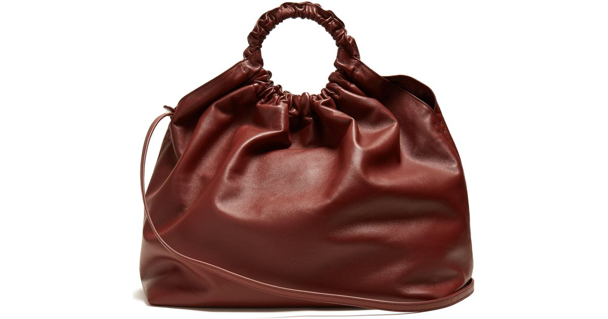 35fd194156428 The Row Double Circle Xl Leather Bag - Lyst