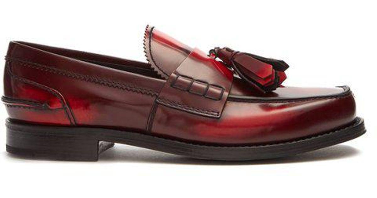 Prada Tassel-embellished Leather