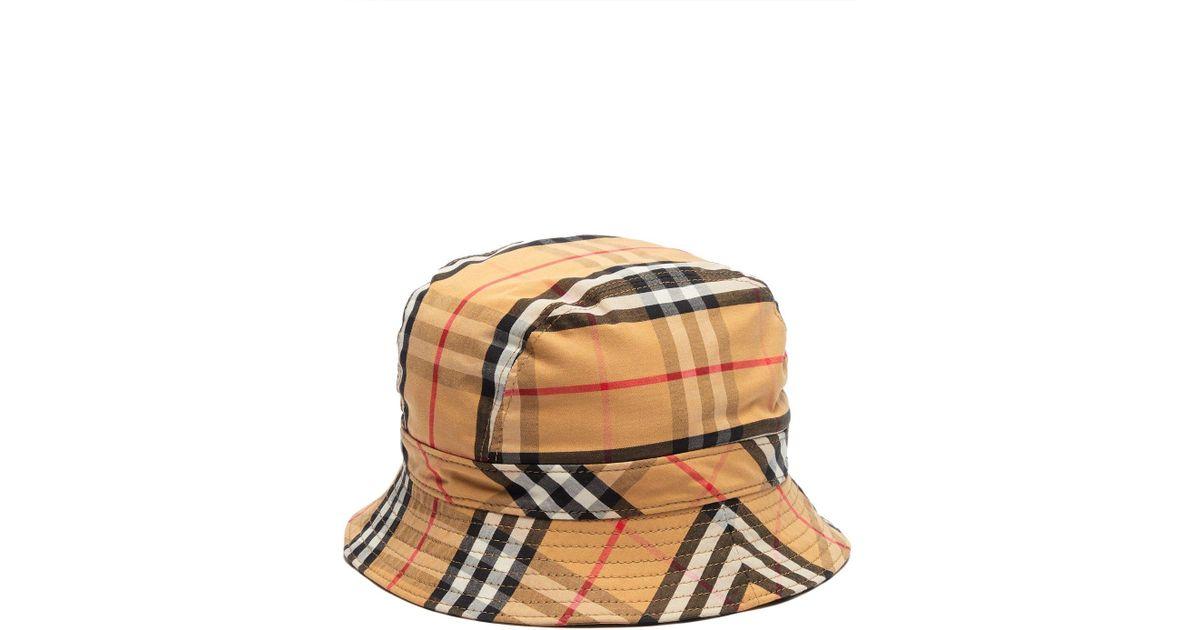 1f7dfa0e Burberry Vintage Check Cotton Bucket Hat for Men - Lyst