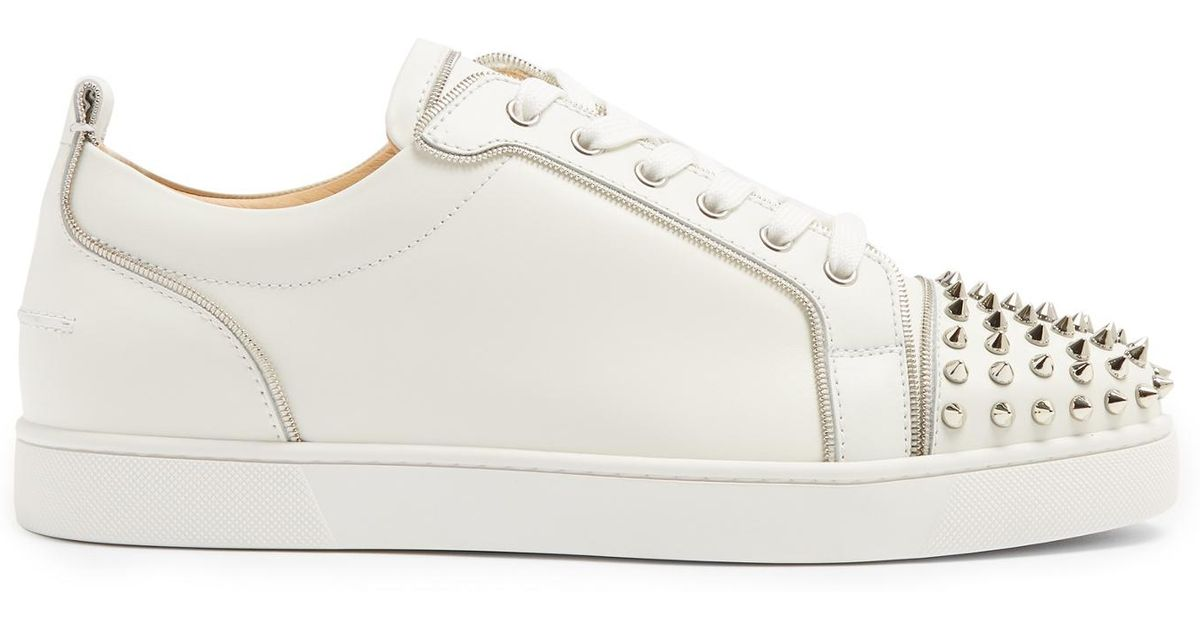 Christian Louboutin Junior Zip Spike-embellished Low-top Trainers in White  for Men - Lyst 552f8262a70a