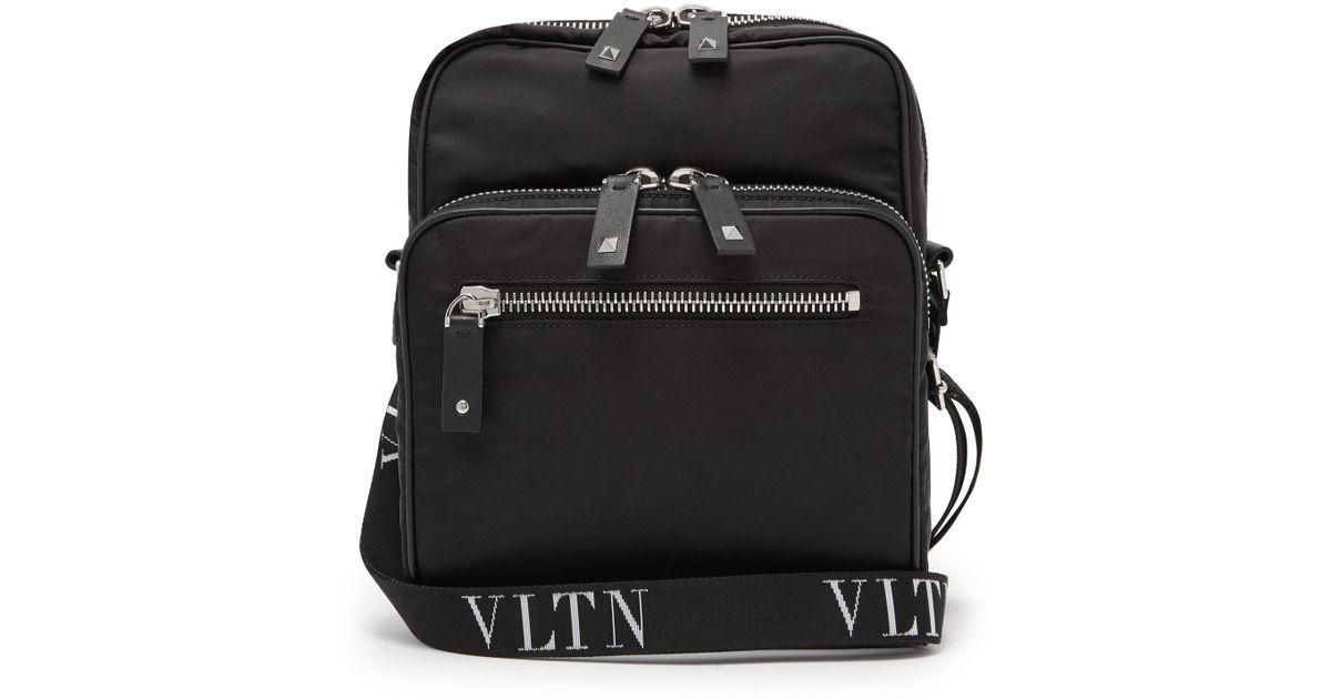 ea29da54e96f2 Valentino Vltn Cross Body Bag in Black for Men - Lyst