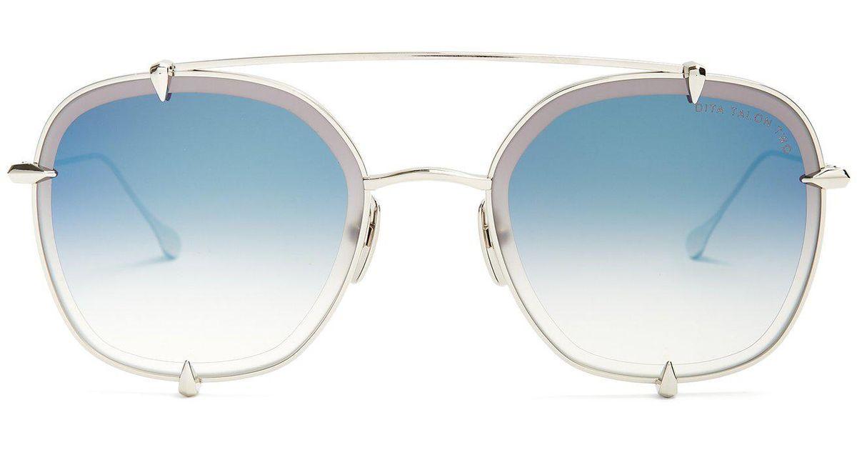 3eeaf760a80 Lyst - Dita Eyewear Talon Aviator Metal Sunglasses in Metallic for Men