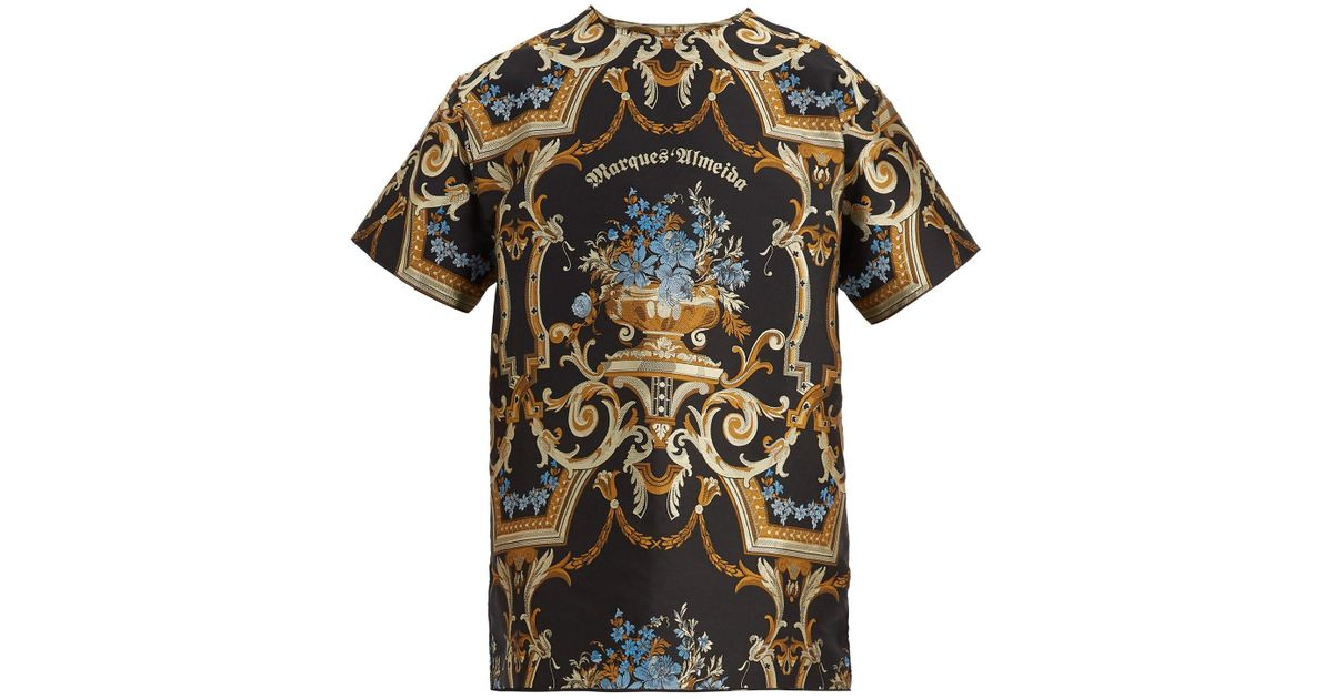 2018 Unisex Cheap Online Oversized brocade T-shirt Marques Almeida Wide Range Of Online For Cheap Sale Online Buy Cheap Amazing Price kHFQCGg1