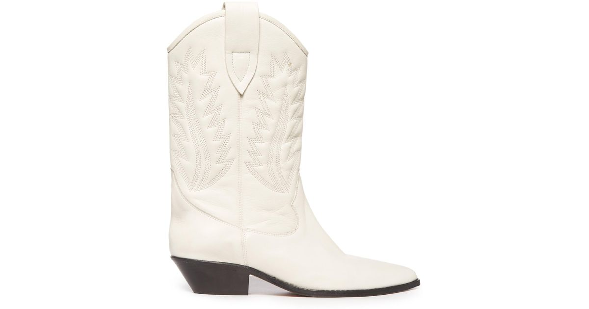 Isabel Marant Leather Cowboy Boots