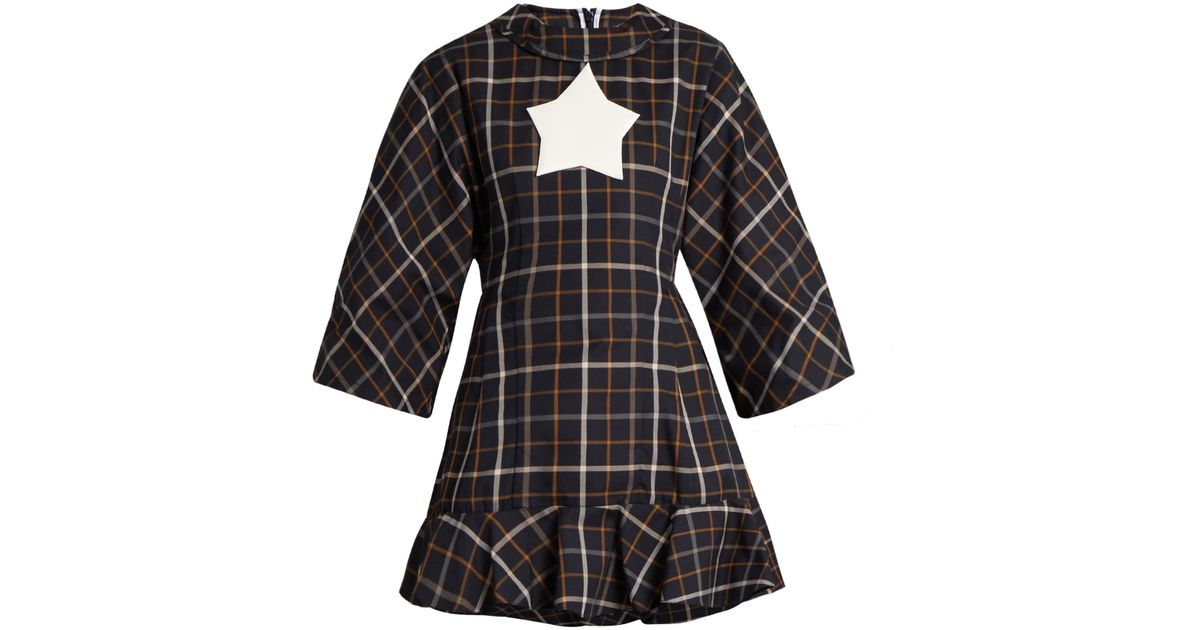 2018 Newest Jellystar checked fluted-hem top A.W.A.K.E. In China For Sale Sale Cheap Online NmnCjNTX