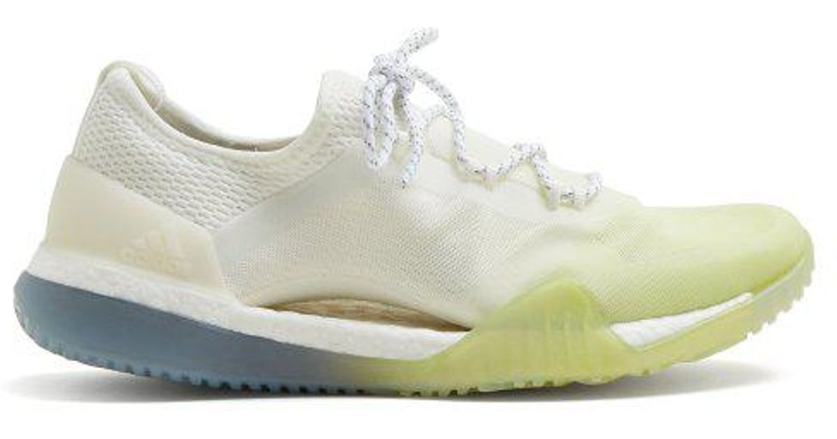 5bf7c40464cac adidas By Stella McCartney Pureboost Tr3.0 Contrast-panel Trainers in White  - Lyst